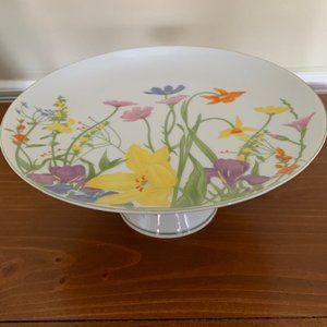 Vintage Seymour Mann Day Lily Cake Plate